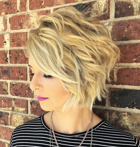 50 Brand New Short Bob Haircuts And Hairstyles For 2020 Intended For Ash Blonde Balayage For Short Stacked Bob Hairstyles (View 13 of 25)