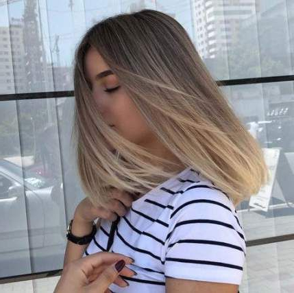 53 Ideas Hair Color Blonde Ombre Balayage Highlights In Short Bob Hairstyles With Balayage Ombre (View 9 of 25)
