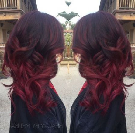 53 Trendy Nails Dark Red Burgundy Make Up | Hair Styles With Regard To Burgundy Balayage On Dark Hairstyles (View 15 of 25)