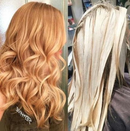 54 Trendy Ideas For Hair Red Ombre Blonde Balayage #Hair In Marsala To Strawberry Blonde Ombre Hairstyles (View 5 of 25)