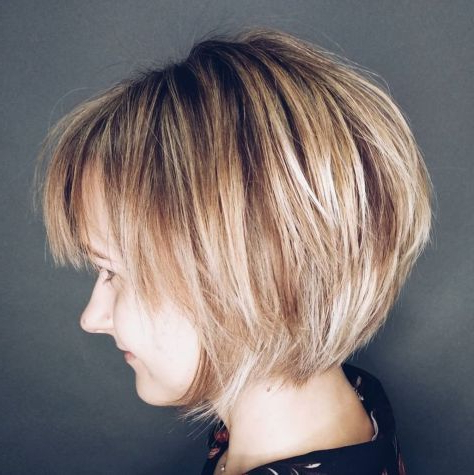 60 Best Short Bob Haircuts And Hairstyles For Women With Regard To Graduated Bob Hairstyles With Face Framing Layers (View 4 of 25)