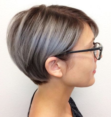 60 Gorgeous Long Pixie Hairstyles | Frisuren, Balayage For Long Pixie Hairstyles With Dramatic Blonde Balayage (View 7 of 25)
