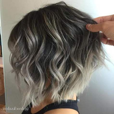 60 Shades Of Grey: Silver And White Highlights For Eternal Throughout Subtle Balayage Highlights For Short Hairstyles (View 4 of 25)