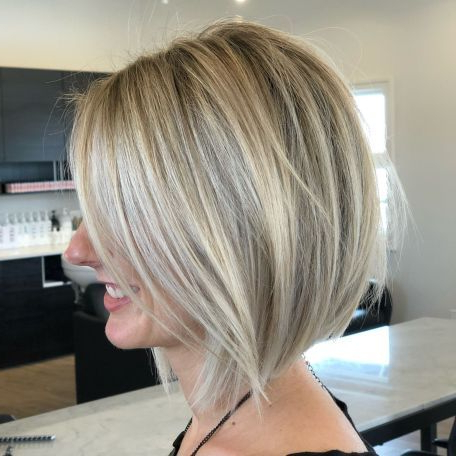 70 Best A Line Bob Hairstyles Screaming With Class And Throughout Lavender Balayage For Short A Line Haircuts (View 23 of 25)