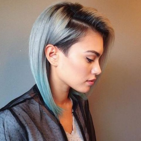 70 Best A Line Bob Hairstyles Screaming With Class And Within Lavender Balayage For Short A Line Haircuts (View 18 of 25)