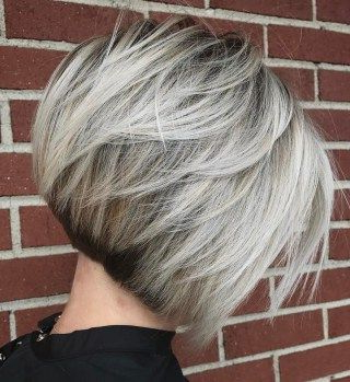 70 Cute And Easy To Style Short Layered Hairstyles In Ash Blonde Balayage For Short Stacked Bob Hairstyles (View 2 of 25)