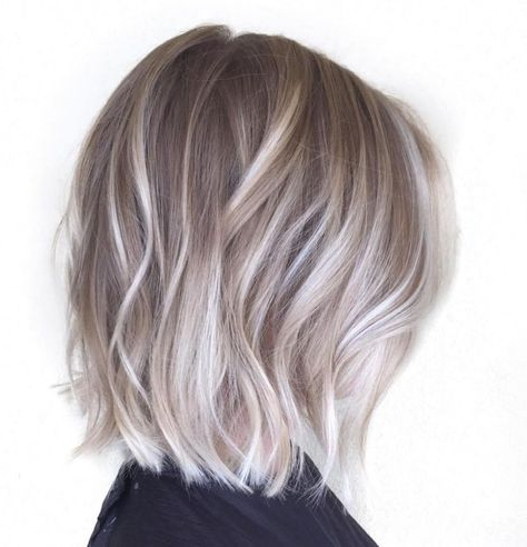 70 Winning Looks With Bob Haircuts For Fine Hair   Bob Throughout Ash Blonde Balayage For Short Stacked Bob Hairstyles (View 3 of 25)