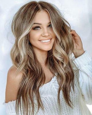 8A Balayage Blonde Brazilian 100% Human Hair Wigs Lace In Blonde Balayage Hairstyles (View 13 of 25)