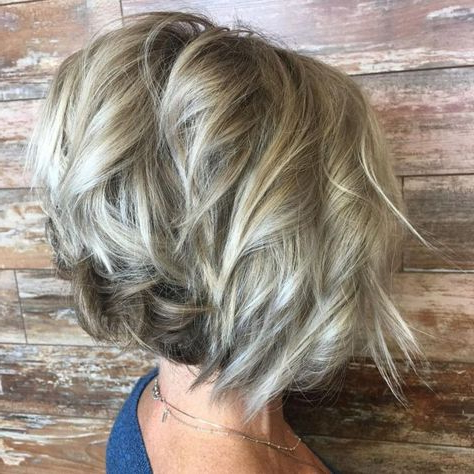90 Classy And Simple Short Hairstyles For Women Over 50 Pertaining To Half Bob Half Pixie Hairstyles With Cool Blonde Balayage (View 10 of 25)