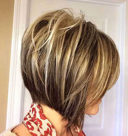Alluring Inverted Bob Haircut Ideas 2017 2018   Bob Pertaining To Ash Blonde Balayage For Short Stacked Bob Hairstyles (View 4 of 25)