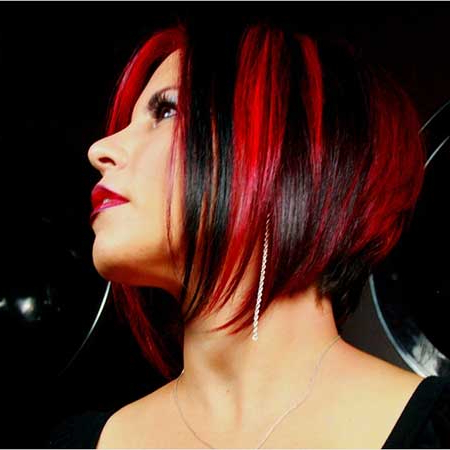 Amazing Black And Red Colored Hairstyles | Hairstyles And With Bright Red Balayage On Short Hairstyles (View 16 of 25)