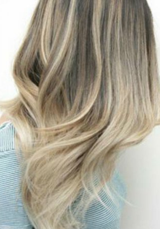 Ash Blonde Balayage And Silver Ombre Hair Color Ideas 2017 With Ash Blonde Balayage Ombre On Dark Hairstyles (View 23 of 25)