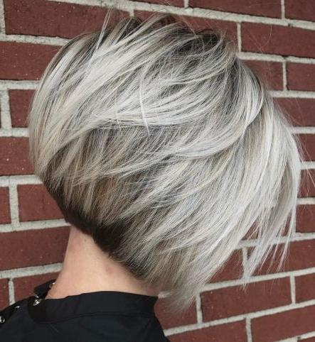 Ash Blonde Balayage Bob   Short Hair With Layers, Blonde For Cinnamon Balayage Bob Hairstyles (View 10 of 25)