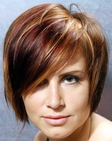 Asymmetrical Short Hairstyle 61, Light Blonde Short Hair Regarding Chestnut Short Hairstyles With Subtle Highlights (View 24 of 25)