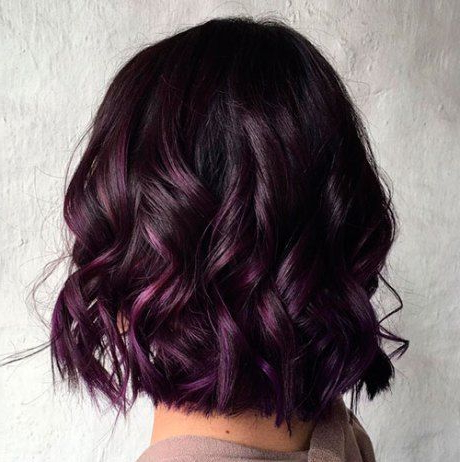 Balayage Hairstyle Ideas For Short Hair Length In Burgundy Balayage On Dark Hairstyles (View 22 of 25)