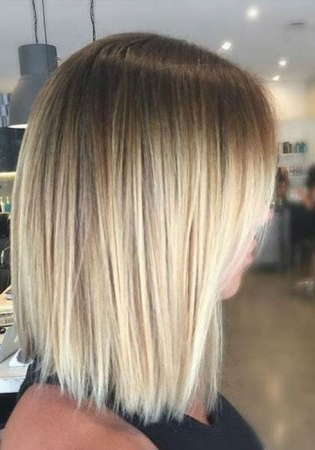 Balayage On Straight Hair   Short, Medium Length, Long With Regard To Blonde Balayage On Short Dark Hairstyles (View 17 of 25)