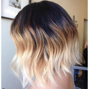 Balayage Vs Ombré : The Difference Between Ombré With Blonde Balayage On Short Dark Hairstyles (View 5 of 25)
