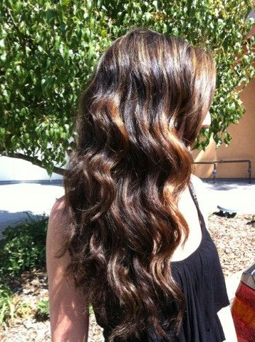 Beach Waves / Carmel Ombre | Hair Beauty, Hair Styles, Hairdo In Beachy Waves Hairstyles With Balayage Ombre (View 23 of 25)