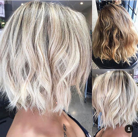 Best 40 Wavy Bob Hairstyles 2018 | Bob Haircut And With Regard To Short Bob Hairstyles With Balayage Ombre (View 7 of 25)