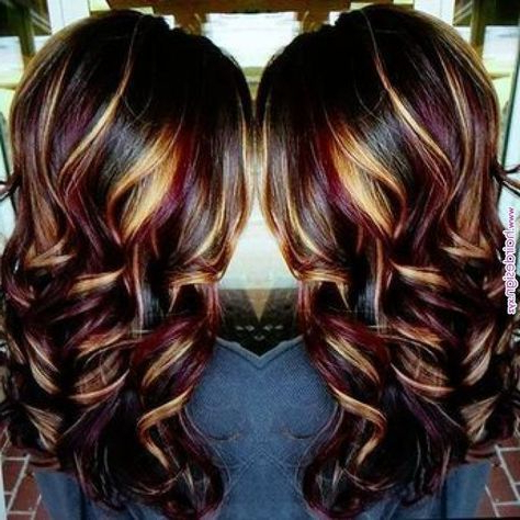Best Hair Color Highlights And Lowlights Blonde Purple 16 For Short Hairstyles With Delicious Brown Coloring (View 19 of 25)