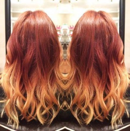 Best Hair Copper Blonde Balayage Red Ombre 64+ Ideas #Hair Intended For Natural Looking Dark Blonde Balayage Hairstyles (View 9 of 25)