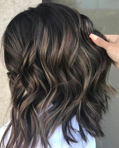 Black Hair With Highlights Looks Inside Short Brown Hairstyles With Subtle Highlights (View 8 of 25)