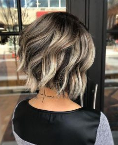 Blonde Balayage Short Hair Looks In Shaggy Bob Hairstyles With Blonde Balayage (View 11 of 25)