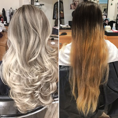 Blonde Balayage Transformation & Color Correction Step By Step Intended For Blonde Balayage Hairstyles On Short Hair (View 6 of 25)