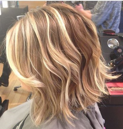 Blonde, Blonde Highlights, Short Hairstyles, Lob, Bob Throughout Shaggy Bob Hairstyles With Blonde Balayage (View 10 of 25)