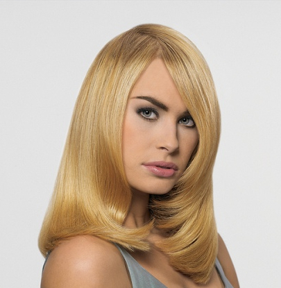 Blonde Straight Layered Hairstyle – Party, Formal, Evening In Blonde Longer Face Framing Layers Hairstyles (View 9 of 25)