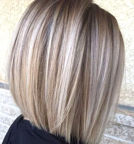 Blunt Blonde Balayage Bob In 2020   Hair Color Ideas For Within Cinnamon Balayage Bob Hairstyles (View 6 of 25)