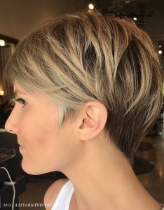 Bronde Balayage Pixie With V Cut Nape – 100 Mind Blowing For Bronde Balayage For Short Layered Haircuts (View 25 of 25)