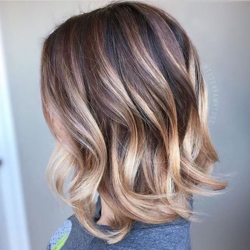 Featured Photo of Balayage Highlights For Long Bob Hairstyles