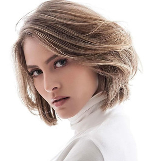 Caramel Balayage Layered Short Hairstyle For Ladies | Flickr Intended For Bronde Balayage For Short Layered Haircuts (View 17 of 25)