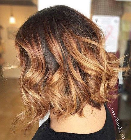 Caramel Ombre Short Hair | Ombre Hair Blonde, Short Ombre Pertaining To Short Brown Balayage Hairstyles (View 11 of 25)