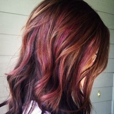 Chestnut Brown With Caramel And Subtle Reddish Plum With Chestnut Short Hairstyles With Subtle Highlights (View 12 of 25)
