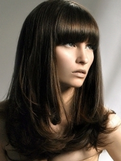 Chic Blunt Bangs Long Hair Styles Inside Blunt Bob Hairstyles With Face Framing Bangs (View 7 of 25)