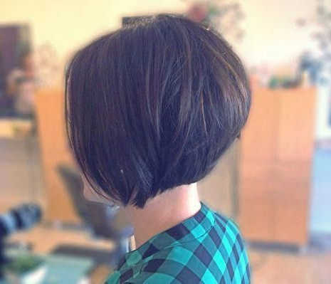Chin Length Stacked Bob Hairstyles #Stackedbob   Stacked Pertaining To Ash Blonde Balayage For Short Stacked Bob Hairstyles (View 19 of 25)