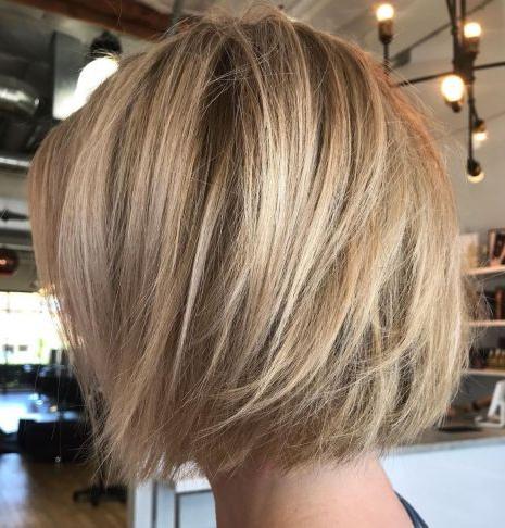 Chin Length Wispy Bronde Bob | Wavy Bob Hairstyles With Bronde Balayage For Short Layered Haircuts (View 4 of 25)