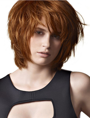 Choppy Bob Hairstyles In Long Layers And Face Framing Bangs Hairstyles (View 8 of 25)