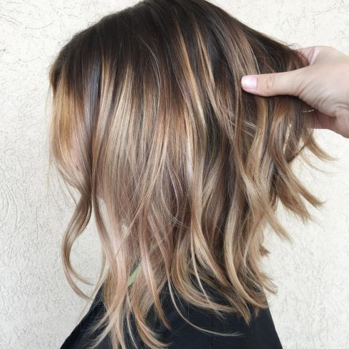 Choppy Bronde Balayage Lob | Hairstyles For Thin Hair Within Bronde Balayage For Short Layered Haircuts (View 6 of 25)
