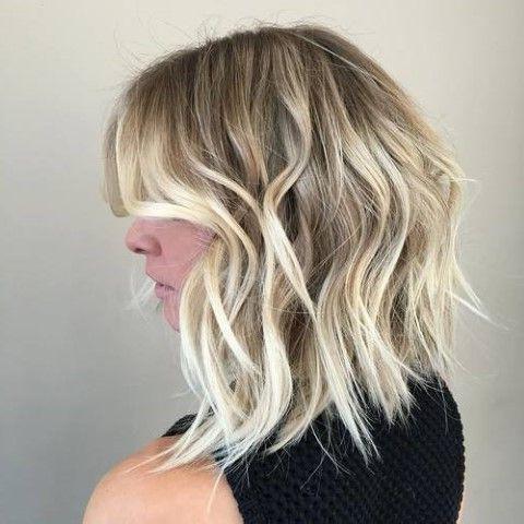 Choppy Long Bob | Bob Hairstyles, Wavy Bob Hairstyles Pertaining To Caramel Blonde Balayage On Inverted Lob Hairstyles (View 13 of 25)