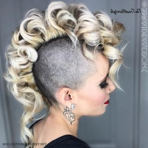 Coiled Blonde Mohawk – 50 Women'S Undercut Hairstyles To For Best And Newest Coral Mohawk Hairstyles With Undercut Design (View 25 of 25)