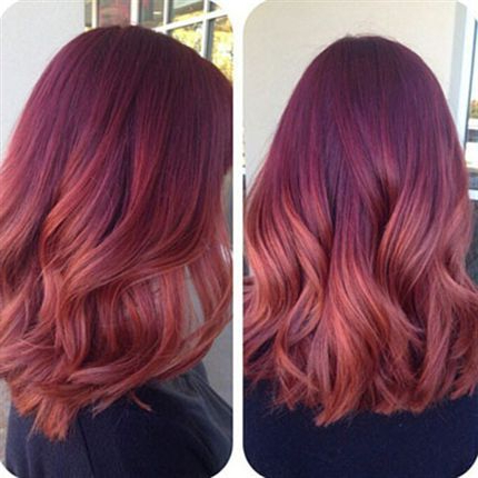 Color Melt Hair | 35 Ideas For Seamless Color Melting Looks Intended For Dimensional Dark Roots To Red Ends Balayage Hairstyles (View 9 of 25)