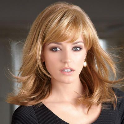 Contemporary, Longer Bangs Blend Into The Layered Sides To Within Long Layers And Face Framing Bangs Hairstyles (View 3 of 25)