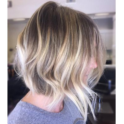 Curly Hair Panosundaki Pin Within Cinnamon Balayage Bob Hairstyles (View 15 of 25)