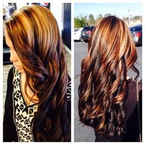 Featured Photo of Natural Brown Hairstyles With Barely There Red Highlights
