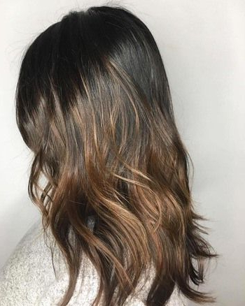 Dark Chocolate Brown Hair With Honey Highlights (View 7 of 25)