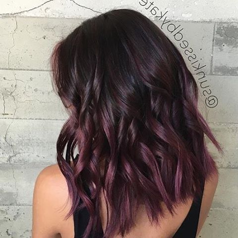 """Don Of Socialmediahairstyles On Instagram: """"Plum Balayage With Short Brown Hairstyles With Subtle Highlights (View 6 of 25)"""