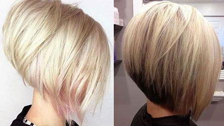 Épinglé Sur Hair Styles Regarding Half Bob Half Pixie Hairstyles With Cool Blonde Balayage (View 3 of 25)